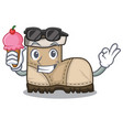with ice cream working boot in shape cartoon vector image vector image