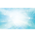 blue background lights rays vector image