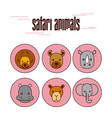 safari different kinds of wild animals vector image