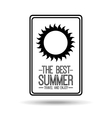 sunny card best summer travel and enjoy vector image