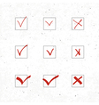 check marks icons set with texture vector image