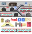Metro rail station vector image