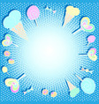 beautiful bright background with sweets vector image