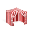 Carnival tent for outdoor party event vector image