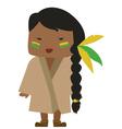 native american woman vector image