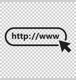 address and navigation bar icon on isolated vector image