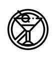 allergen free sign alcohol thin line icon vector image