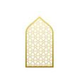 arab window door pattern arabian islamic vector image