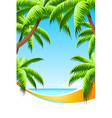 Background Summer Vacation vector image vector image