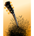 background with Guitar headstock vector image