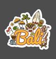bali travel sticker vector image vector image