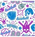 Baseball and softball seamless pattern