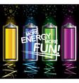 battery fun energy vector image vector image