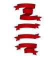 Beautiful Red Ribbon Label vector image vector image