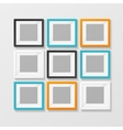 Blank Color Picture or Foto Frame for Interior vector image vector image