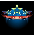 blockbuster with stars vector image vector image