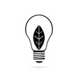 bulb with plant black vector image