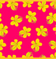 cassia fistula - golden shower flower on pink vector image vector image