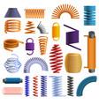 coil icon set cartoon style vector image vector image