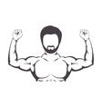 contour half body muscle man vector image vector image