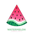 cut out silhouette watermelon slice vector image