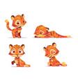 cute tiger cartoon character animal cub mascot