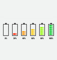 degree battery charge simple icon flat design vector image