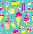 different ice cream pattern seamless vector image