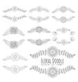Doodles floral frames vector image