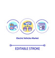 electric vehicle market concept icon vector image vector image