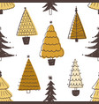 festive seamless pattern with various christmas vector image vector image