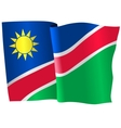 flag of Namibia vector image vector image