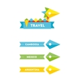 flat bird travel company logo with identity vector image