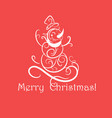 funny snowman christmas card vector image vector image