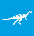 gallimimus dinosaur icon white vector image vector image