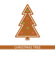 gingerbread christmas tree isolated vector image