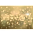 Golden festive lights in star shape background vector image vector image
