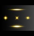 golden glowing lights transparent effect vector image vector image