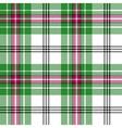 green white pink tartan plaid seamless pattern vector image vector image