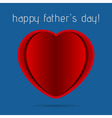 greeting card - red heart on a blue background vector image vector image