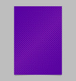 Halftone dot pattern brochure background design vector image