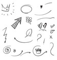 hand drawn collection swishes swoops emphasis vector image vector image