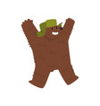 happy humanized male bear character wearing vector image vector image