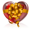 heart bow gift concept vector image
