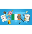 ireland economy economic condition country with vector image vector image