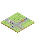 Isometric country crossroads vector image
