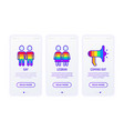 lgbt thin line icons gay lesbian coming out vector image vector image
