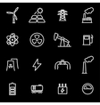 line energetics icon set vector image vector image