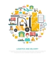 Logistics And Transportation Concept vector image vector image
