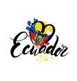 logo for ecuador country fridge magnet vector image vector image